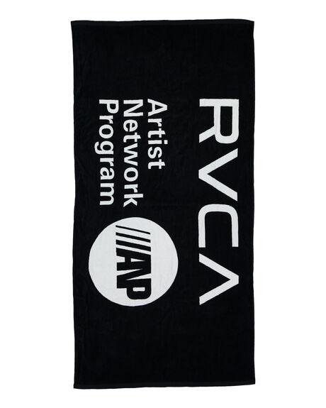 BLACK MENS ACCESSORIES RVCA TOWELS - RV-R106541-BLK