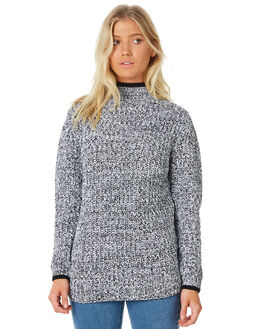 WHITE BLACK WOMENS CLOTHING RUSTY KNITS + CARDIGANS - CKL0335WBK