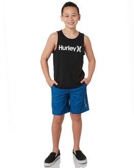 BLACK WHITE KIDS BOYS HURLEY TOPS - AR4112012