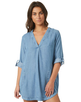 CHAMBRAY WOMENS CLOTHING ZULU AND ZEPHYR DRESSES - ZZ2049CHAM