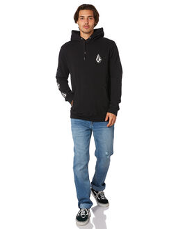 WASHED BLACK MENS CLOTHING VOLCOM JUMPERS - A4111903WSB
