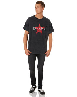 SMASHED BLACK MENS CLOTHING THE PEOPLE VS TEES - AW19010SMBLK