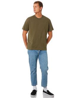 ARMY GREEN MENS CLOTHING THRILLS TEES - TW9-101FARMGN