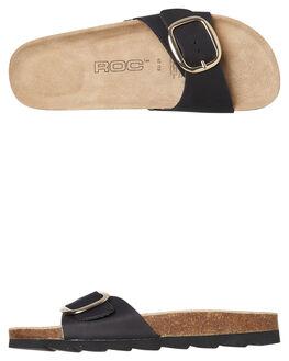 BLACK NATURAL WOMENS FOOTWEAR ROC BOOTS AUSTRALIA SLIDES - BOWIEBLKN