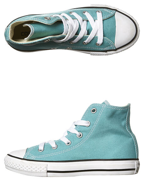 478b9cb537eb Converse Kids Chuck Taylor Seasonal Hi Shoe - Aegean Aqua