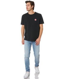 BLACK MENS CLOTHING NUDIE JEANS CO TEES - 131680BLK