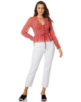 SUNNY NOON PRINT WOMENS CLOTHING STEVIE MAY FASHION TOPS - SL190931TPRINT