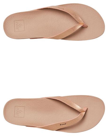 ROSE GOLD WOMENS FOOTWEAR REEF THONGS - A3FDSRGL