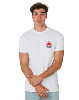 WHITE OUTLET MENS RIP CURL TEES - CTENL91000