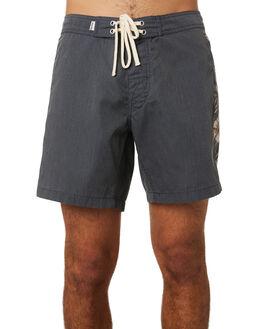 BLACK MENS CLOTHING RHYTHM BOARDSHORTS - JUL19M-TR03-BLK