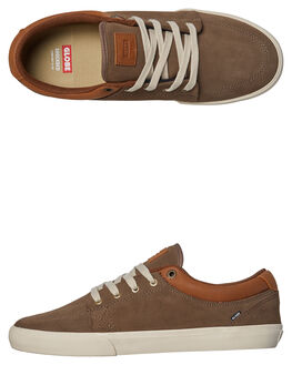 WALNUT OFF WHITE MENS FOOTWEAR GLOBE SKATE SHOES - GBGS-16265