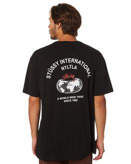 BLACK MENS CLOTHING STUSSY TEES - ST097006BLK