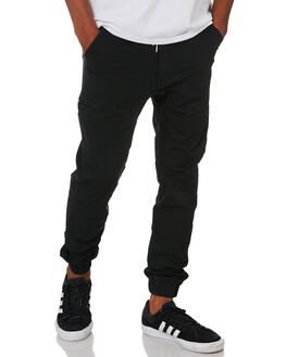 BLACK TWILL MENS CLOTHING NENA AND PASADENA PANTS - NPMC2P001BLKTW