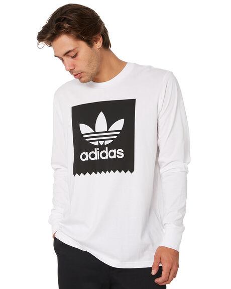 WHITE BLACK MENS CLOTHING ADIDAS TEES - DU8333WHT