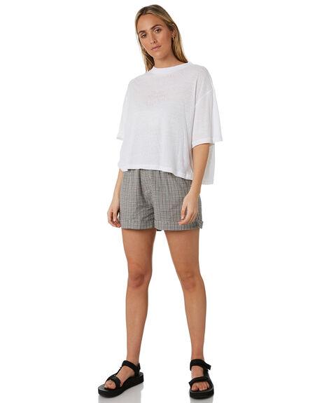 WHITE WOMENS CLOTHING STUSSY TEES - ST193001WHT