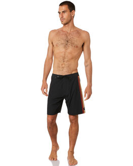 DIRTY BLACK MENS CLOTHING BANKS BOARDSHORTS - BS0234DBL