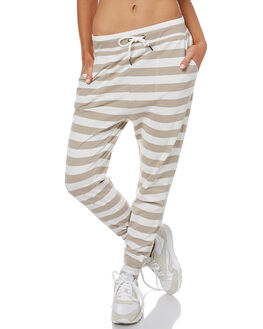 BEIGE STRIPE WOMENS CLOTHING SWELL PANTS - S8173191BEIGS