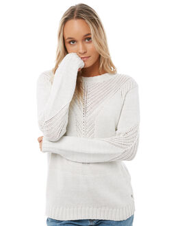 MARSHMALLOW WOMENS CLOTHING ROXY KNITS + CARDIGANS - ERJSW03216WBT0