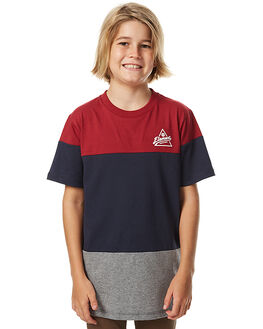 ECLIPSE NAVY KIDS BOYS ELEMENT TEES - 376004ANVY