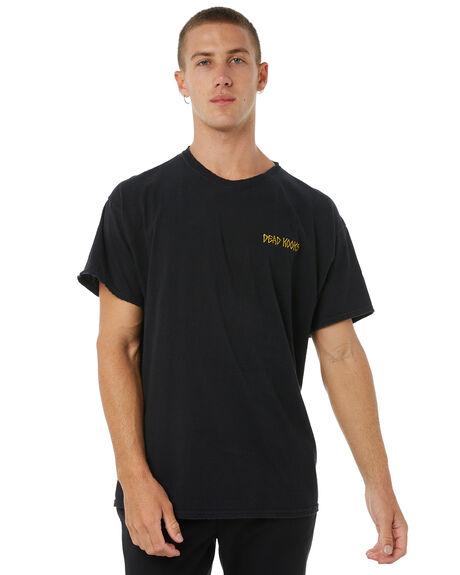 BLACK MENS CLOTHING DEAD KOOKS TEES - DKSSTEE13BLK