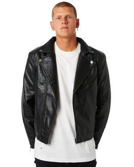 BLACK MENS CLOTHING THRILLS JACKETS - TLP-200BBLK