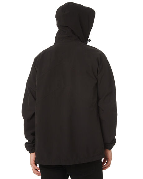 BLACK MENS CLOTHING RVCA JACKETS - R183438BLK