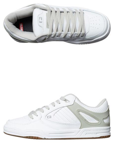 WHITE GREY MENS FOOTWEAR GLOBE SKATE SHOES - GBAGENT-11674