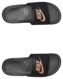 BLACK ROSE WOMENS FOOTWEAR NIKE SLIDES - 343881-007