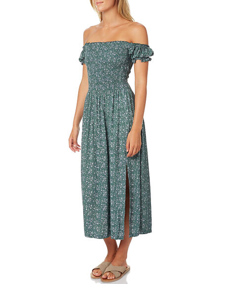 GREEN FLORAL WOMENS CLOTHING SWELL DRESSES - S8161457GRN