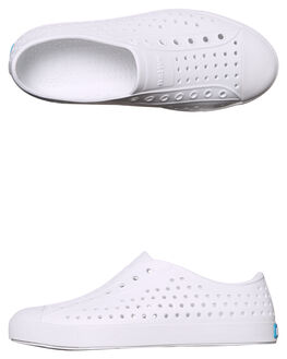 SHELL WHITE KIDS GIRLS NATIVE SLIP ONS - 12100100-1999