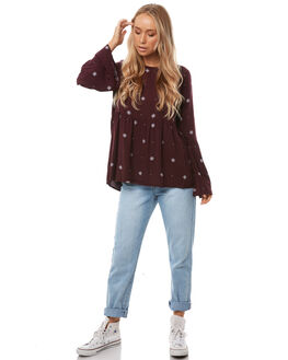 BURGANDY STARDUST WOMENS CLOTHING ALL ABOUT EVE FASHION TOPS - 6413010BUR