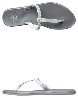 SILVER METALLIC WOMENS FOOTWEAR FREEWATERS FASHION SANDALS - WO035SIL