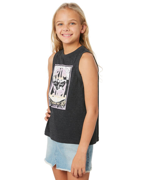 BLACK KIDS GIRLS RIP CURL TOPS - JTEEJ10090