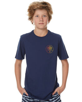 NAVY WHITE KIDS BOYS SWELL TEES - S3174002NVYWT