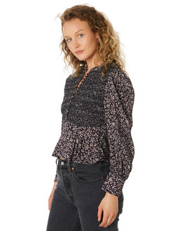 MIDNIGHT FLORAL OUTLET WOMENS SAINT HELENA FASHION TOPS - SHS192203MIDFL