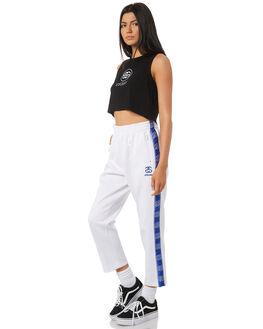 WHITE WOMENS CLOTHING STUSSY PANTS - ST195608WHT