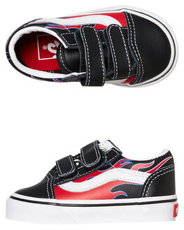 BLACK FLAMES KIDS BOYS VANS FOOTWEAR - VN0A344KVISBLKF
