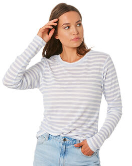 BLUE STRIPE WOMENS CLOTHING NUDE LUCY TEES - NU23584BLUS