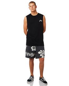 BLACK MENS CLOTHING RUSTY BOARDSHORTS - BSM1278BLK