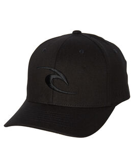 BLACK MENS ACCESSORIES RIP CURL HEADWEAR - CCANW10090