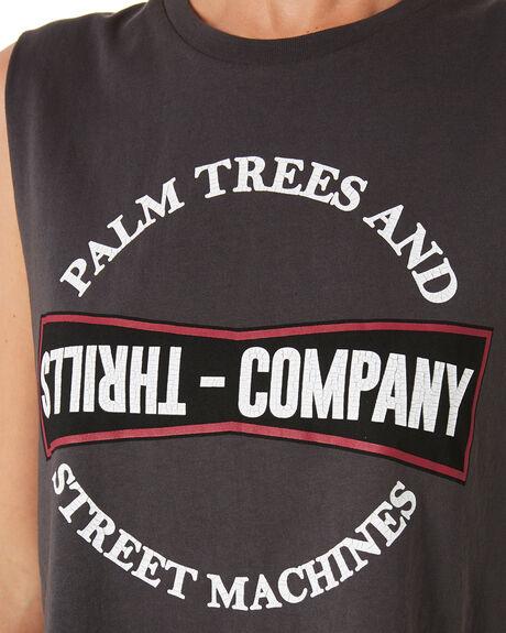 MERCH BLACK WOMENS CLOTHING THRILLS SINGLETS - WTH9-112MBMBLK