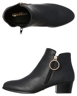 BLACK TUMBLE WOMENS FOOTWEAR BILLINI BOOTS - B878BLK