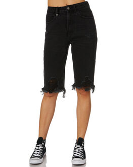 FADED BLACK WOMENS CLOTHING THRILLS SHORTS - WTDP-326FBBLK