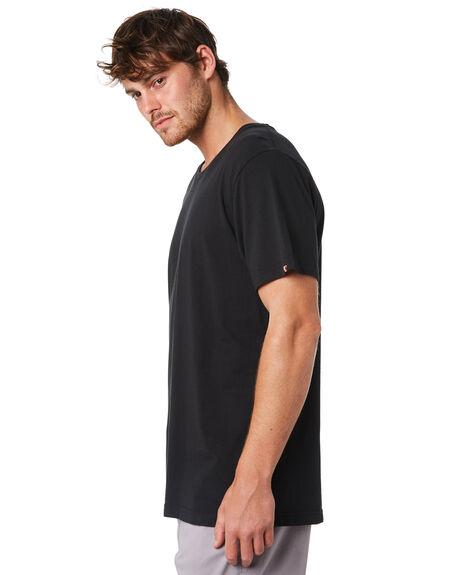 BLACK MENS CLOTHING ACADEMY BRAND TEES - BA333BLK