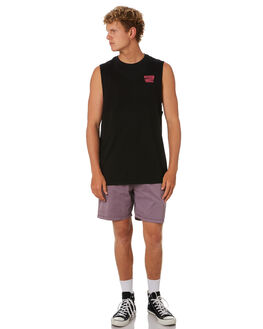 BLACK MENS CLOTHING SWELL SINGLETS - S5201275BLACK