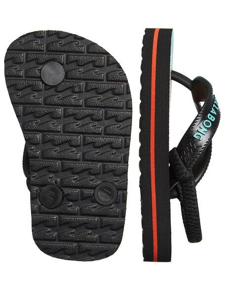 BLACK KIDS BOYS BILLABONG FOOTWEAR - 7682938BLK