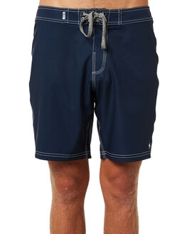 NAVY WHITE MENS CLOTHING AFENDS BOARDSHORTS - M182300NVWH