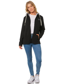 BLACK WOMENS CLOTHING BILLABONG JACKETS - 6595891BLK