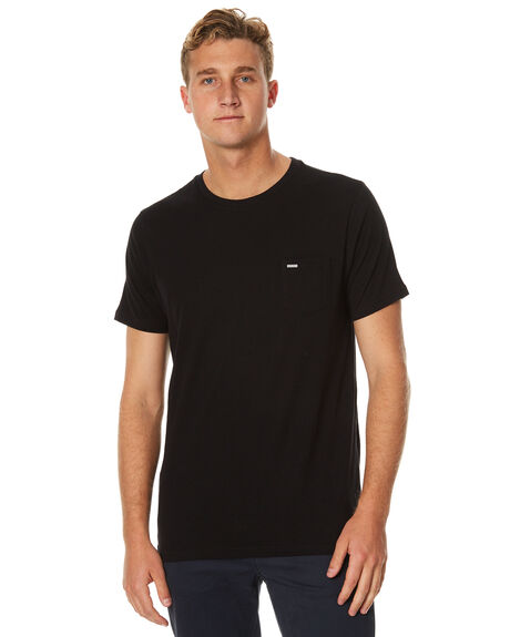 BLACK MENS CLOTHING RIP CURL TEES - CTECV20090