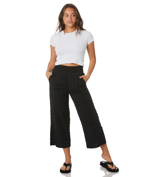 BLACK WOMENS CLOTHING VOLCOM PANTS - B1232100BLK